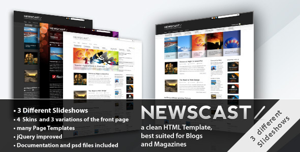 Newscast 4 in 1 Magazine and Blog Template