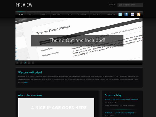 Preview Fancy Dark Wordpress theme