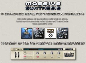 eXode   Massive Synthesis ReFill, refills samples audio, Synthesis, Refill, Massive, eXode