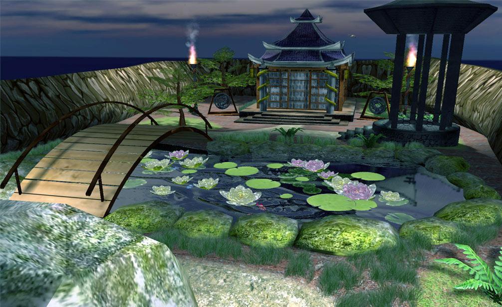 paysage-pont-japonais-fleur-flora